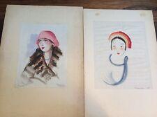 Aquarell Art Deco 1920er Jahre Pauline Fresenius