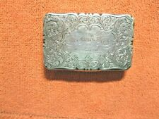 Georgian Sterling Silver Snuff Box N. Mills Birm. 1848-1849