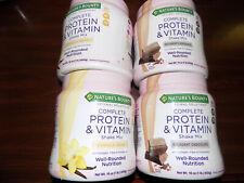 4 Nature's Bounty Complete Protein & Vitamin Shake Mix Vanilla & Chocolate 2020!