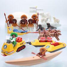 playmobil® Eskimo Figuren |Polarexpedition |Iglu |Schneemobil |Eisbär |Set