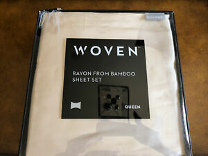 MALOUF  Rayon Bamboo Bed Sheet Set Queen Driftwood Color
