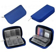 BLUE Memory Card Holder Wallet - Micro SD SDHC CF SM - Protective Storage Case