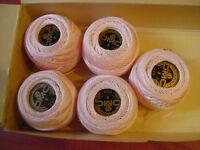 1 boule coton perlé DMC grosseur N° 8 coloris 819 article 116 une seule boule
