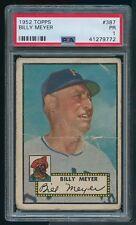 1952 Topps #387 Hi High Number Billy Meyer PSA 1