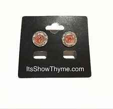 Horse Show Competition Earrings - Peach Rose