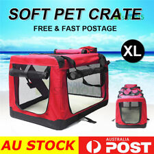 Pet Soft Crate Portable Dog Cat Carrier Travel Cage Kennel Folding  XXLarge RED