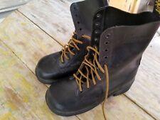 VTG DR. MARTENS Women's Black Leather Black Soled Boots Size UK 5, US 7 England