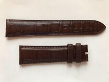 Authentic NEW Carl F. Bucherer 20mm x 18mm brown dull alligator watch strap band