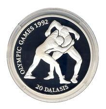 GAMBIA - 20 Dalasis 1993 - OLYMPIA Barcelona - Ringen - SILBER - ANSEHEN