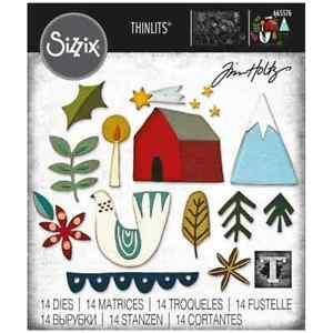 SIZZIX® THINLITS DIE SET 14PK - FUNKY NORDIC by TIM HOLTZ™ FREE UK P & P