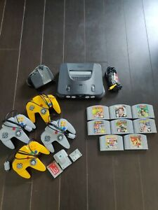 N64 console lot 4-player bundle 8 authentic games 4 controllers Mario party