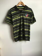 Kooga Leicester Tigers Rugby Men's Pro Striped Polo Shirt - Large - Grey - New
