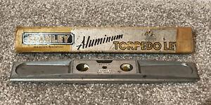"Vintage Stanley Handyman No. H1291 Three Way 9"" Aluminum Torpedo Level USA"