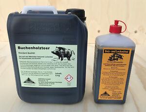 Buchenholzteer 5 kg Kanister & 1 L Beizlockmittel im Set #030.006 UVP 42,80 Euro