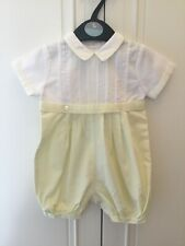 Sarah Louise Traditional Romany Spanish Lemon White Romper Outfit Size 3 Months