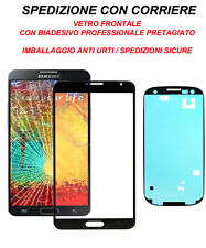 Vetro Glass Schermo Per Samsung Galaxy Note N7000 GT Biadesivo Adesivo Nero