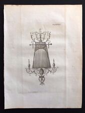Antigüedad 1800 Impresión Arco. constructores revista un diseño para un LXXXII Looking Glass