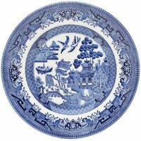 WILLOW DINNER PLATES 26 CM BLUE CHURCHILL  NEW HOME OFFICE DAILY USE SET OF 6
