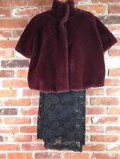 Joseph Ribkoff Faux Fur Jacket Shrug Coat Size 8