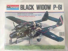 VINTAGE MONOGRAM NORTHROP P-61 BLACK WIDOW 1:48 SCALE MODEL KIT 1974