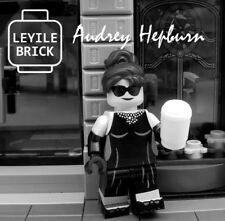 Pre-order LYL BRICK Custom Breakfast At Tiffany's Audrey Hepburn Lego Minifigure