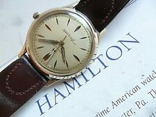 Original Micro Rotor Vintage Men's 1970's Hamilton Thin-O-Matic 17J Swiss Watch