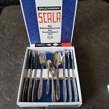 Neu Bruckmann Besteck Set 777 Scala Edelstahl 30Tlg Entwurf 70er sehr selten !
