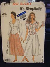 Simplicity 7095 Misses Blouse & Culottes Pattern - Size 8-20