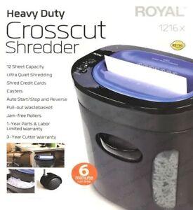 ROYAL 12 Sheet Heavy Duty Crosscut Shredder 1216MXBrand New