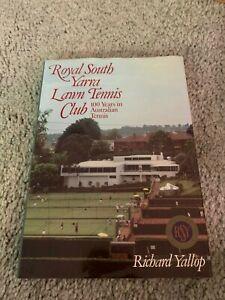 1984 Royal South Yarra Lawn Tennis Club Tennis Book First Edition