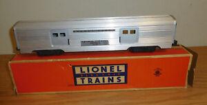 "LIONEL LINES ORIGINAL POSTWAR #2530 LARGE DOOR ALUMINUM 15"" BAGGAGE CAR BOXED"