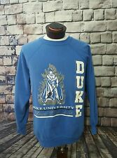 Vintage Blue Devils Duke University Pullover College Crewneck Sweater Tultex XL