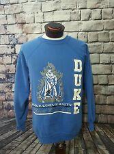 Vintage Blue Devils Duke University Pullover College Crewneck Sweater Tultex XL