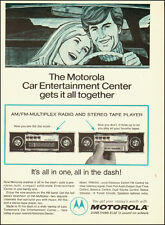 1972-MOTOROLA`Car Entertainment Center AM/FM radio tape player- Vintage Ad