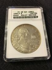 1999 P Proof Commemorative Dollar Anacs Pr-68 Dcam - Dolley Madison - Certified