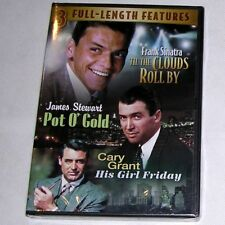 DVD: Sinatra Til Clouds Roll By Stewart Pot O' Gold Grant His Girl Friday SEALED