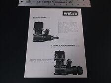 VINTAGE 1980 WEBRA 61 F & 61FM BLACKHEAD PLANE ENGINE AD SHEET 2-SIDED VG-COND*