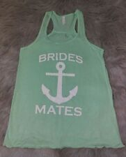Bella Canvas Anchor Tank Top  BRIDES MATES Women SZ Medium Wedding Bridal Party