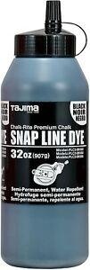 TAJIMA Marking Tools - Black 32 oz (907g) Semi Permanent Snap-Line Dye