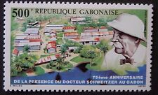 Gabon 1988 75th Anniv of Arrival of Albert Schwitzer Stamp. MNH.