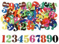 100 Découpes en papier 10 coul _ CHIFFRES 2,4cm _ Die cut scrapbooking carterie