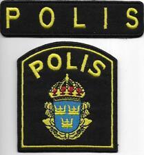 SCHWEDEN Stockholm POLIS  2-teilig  Polizei Abzeichen SWEDEN Natl. Police Patch