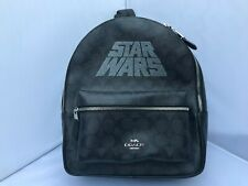 Star Wars X Coach Black Signature Canvas Charlie Backpack F88015