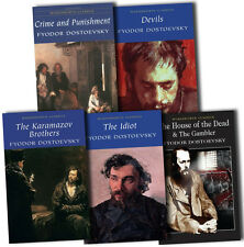 Fyodor Dostoevsky Collection 5 Books Set The Idiot, Crime and Punishment, Devils