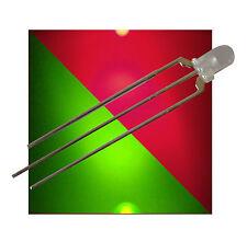 25 Bi-Color LEDs 3mm diffus ROT - GRÜN 3-polige LED