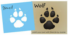 """Rustic Stencil 4"""" Wolf Paw Print Animal Track Hunting Wild Decor Outdoor Signs"""