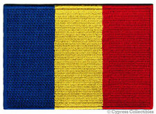 ROMANIA FLAG embroidered iron-on PATCH ROMANIAN EMBLEM Roumania Rumania