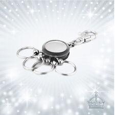 Schlüsselanhänger + 4 abnehmbare Ringe Metall Kunststoff Gravurplatte  MTM-SH-75