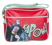 DC COMICS BATMAN KAPOW 1966 RETRO SHOULDER MESSENGER SPORT GYM SCHOOL BAG BNWT