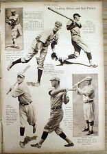 1920 NY Times newspaper Mid-Week Pictorial magazine w ML Baseball players photos